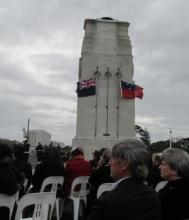 Ceremony at the Cenotaph, Auckland War Memorial Museum