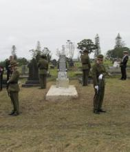 Ceremony for Sapper Robert Hislop.